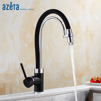 Azeta New Arrival Black Kitchen Faucet Single Hole Deck Mounted Faucet Pull Down Kitchen Sink Tap Torneira Cozinha MK9764B