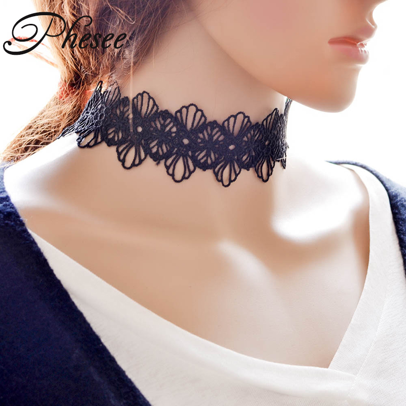 New Fashion Vintage Statement Necklace Jewelry Cool Cloth Lace Tattoo Choker Necklaces Gift For Women Girl E0955