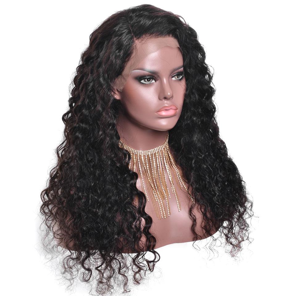 YWONNE Wave Περούκες Wig Φυσικό Χρώμα - Ανθρώπινα μαλλιά (για μαύρο) - Φωτογραφία 3