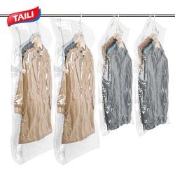 Vacuum Bags For Clothes Hanging Wardrobe Closet Organizer Space Saver Compression Bag Vacuum Package Storage Bag