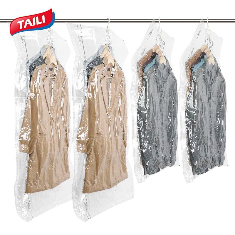 Vakuum Beutel Für Kleidung Hängen Schrank Closet Organizer Space Saver Kompression Tasche Vakuum Paket Lagerung Tasche