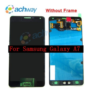 """2017 100% Tested For Samsung A7 A720 A720F A720M A720Y 5.5"""" lcd Touch Digitizer Assembly Super Amoled LCD Replacement Screen"""