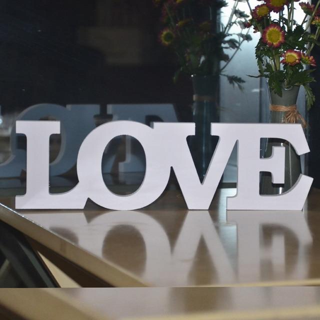 White Love Letters Wooden Romantic Vintage Freestanding Wedding Home