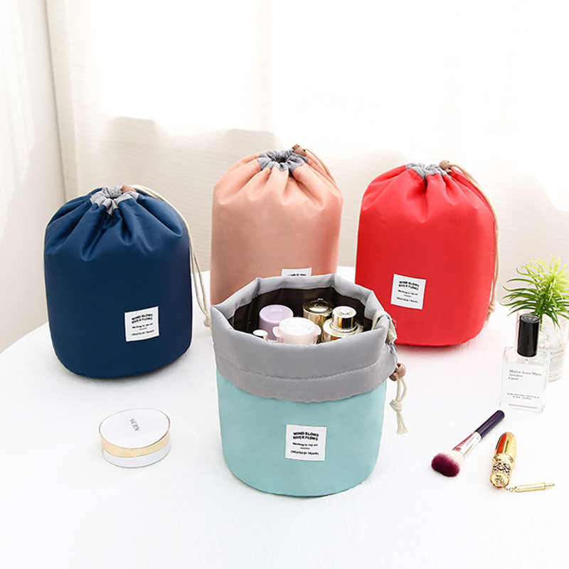 Women Travel Magic Pouch Drawstring Cosmetic Bag Organizer Lazy Flamingo Make Up Cases Beauty Toiletry Kit Tools Wash Storage