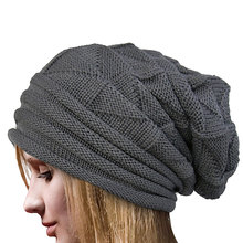 Top Sell Women Winter Hat Wool Knitted Beanies Cap Natural Fur Pompom Hats Solid Colors Ski Gorros Cap Female Causal Hat