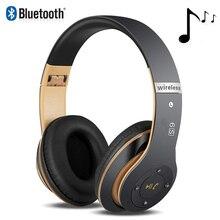 6S лучшие беспроводные наушники складной шлем Аудио Bluetooth наушники гарнитура для iPhone, двойные динамики наушники с микрофоном Поддержка TF карты
