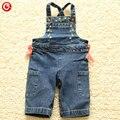 Infantil de los Bebés Pantalones Overol de Mezclilla Pantalones Vaqueros Chicos Pantalones Del Bowknot de Los Cabritos del Mono Recién Nacido Ropa de Bebes Ropa de Moda 0-24 M