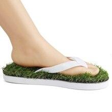 Горячие Моды для Мужчин и Женщин Летом прохладу степлер искусственная трава квартиры пляж сандалии обуви