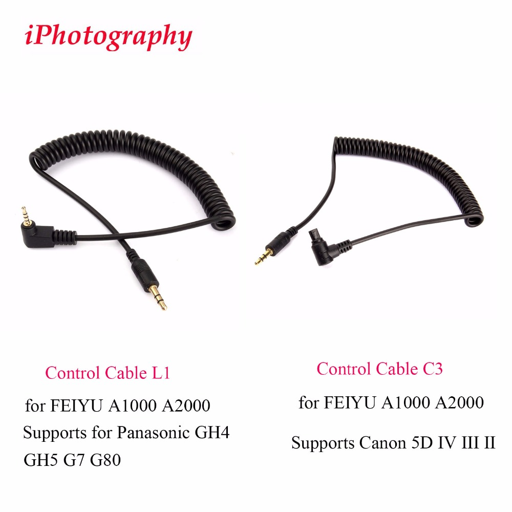 Control Cable L1 for <font><b>FEIYU</b></font> <font><b>A1000</b></font> A2000 Supports for Panasonic GH4 GH5,Cable C3 for <font><b>FEIYU</b></font> <font><b>A1000</b></font> A2000 Supports Canon 5D IV III II image