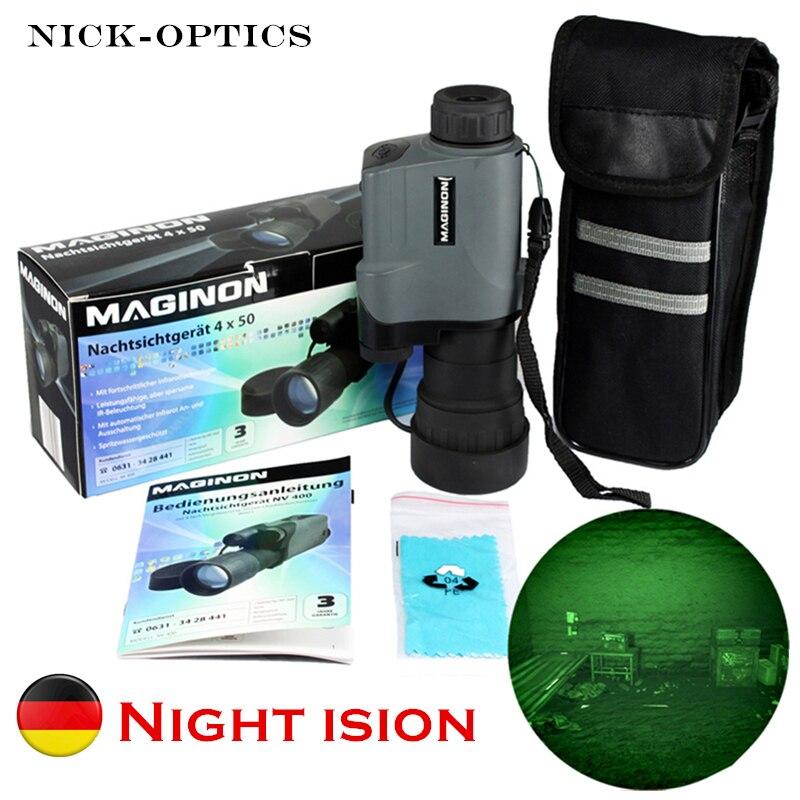 Оригинальный немецкий военный ночного видения Монокуляр тактическая оптика инфракрасное ночное видение устройство Охота googles