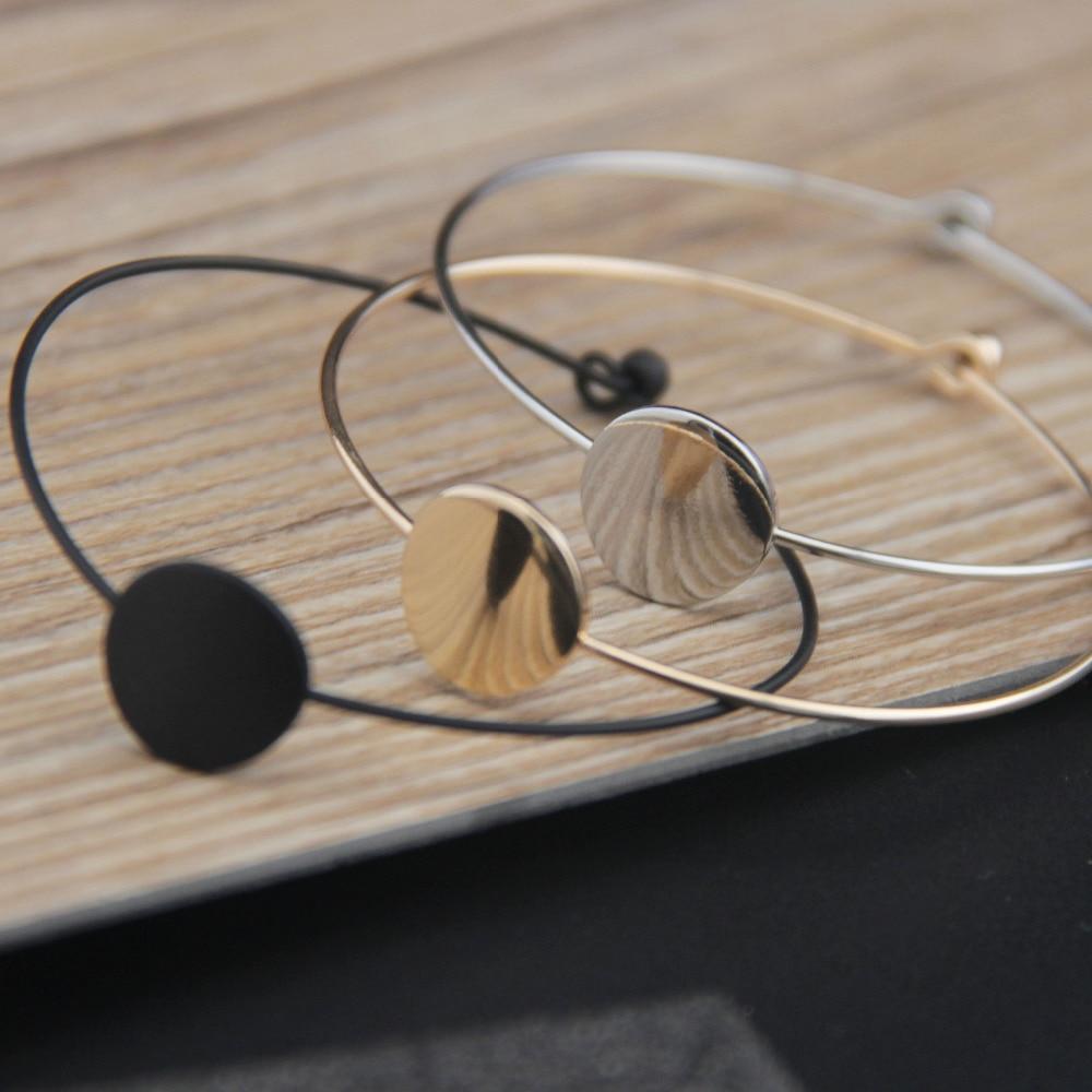 New fund sell like hot cakes minimalist design joker copper qualitative geometric circular female bracelet