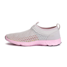 Summer Air Mesh Breath Couple Shoes Breathable Lazy Shoes Outdoor Upstream Recreational Walk Men Walking Shoes Female Sneakers