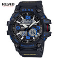 READ Dual Disp Men Sport Military Quartz Watches Round Dial Large Digital Scale Analog WristWatch Relogio Masculino 90001