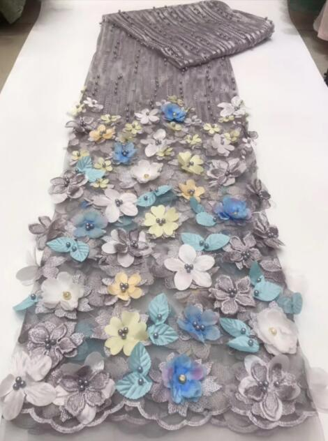 Top koop tulle geborduurde materiaal CiCi 6653 Franse netto kant stof borduren tulle lace stof met bloem-in Kant van Huis & Tuin op  Groep 1