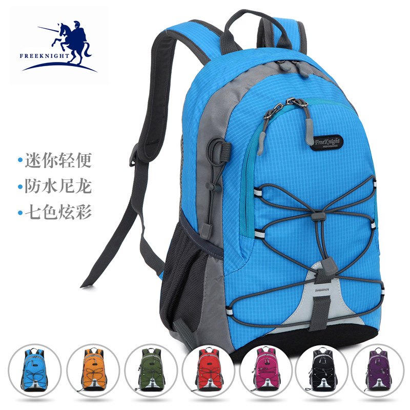 Outdoor Double Shoulder Bag Mini children walking on foot and walking on the backpack factory morais r the hundred foot journey