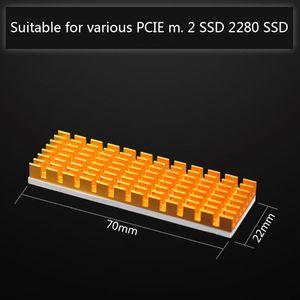 Image 5 - جديد المبرد تبديد الحرارة M.2 NGFF التبريد بالوعة الحرارة منصات الحرارة الحرارية ل M.2 NGFF 2280 PCI E NVME SSD