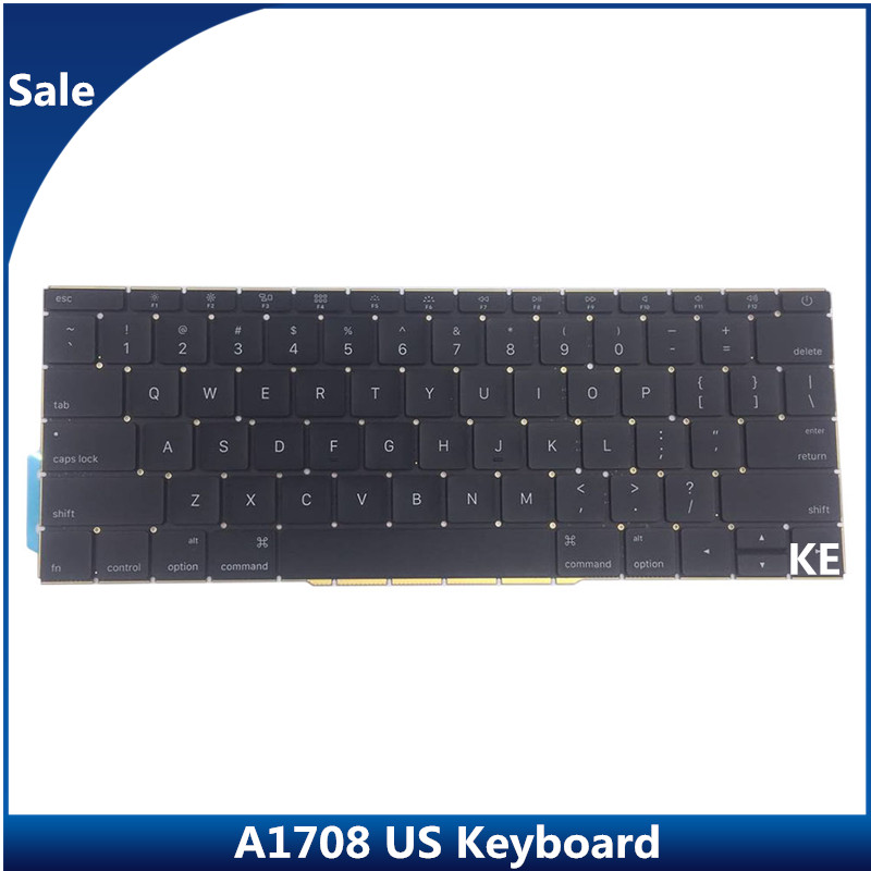 Sale A1708 1708 Keyboard without backlight US Black for Macbook Pro 13 3 Retina USA English