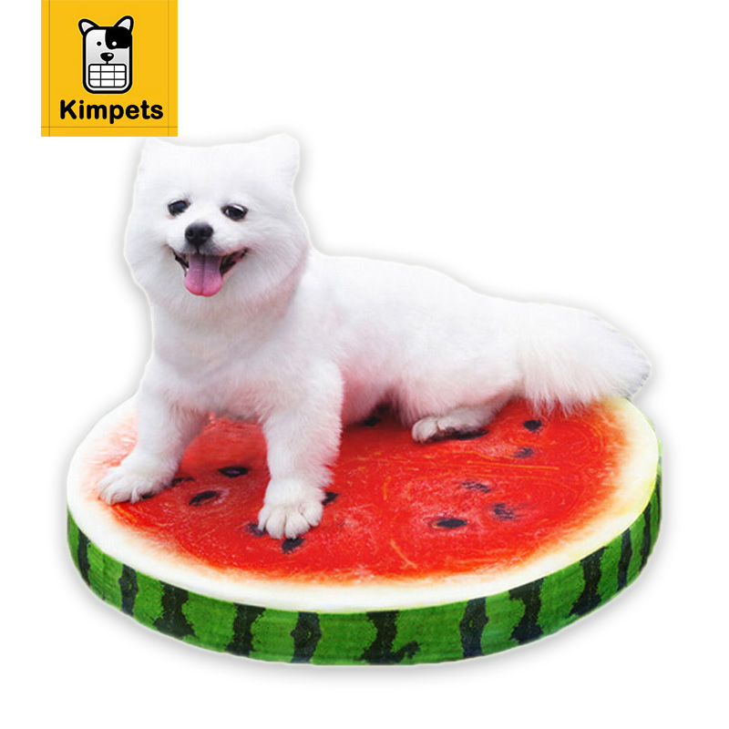 New dia 50cm Summer Style Cool Fruits Pet Dog Cats Funny Dog Cushions Mat Pad Washable