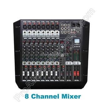 وحدة تحكم جديدة متخصصة في مزج الصوت MICWL TX82 ذات 8 قنوات مزدوجة المجموعة DSP AUX 48 فولت USB