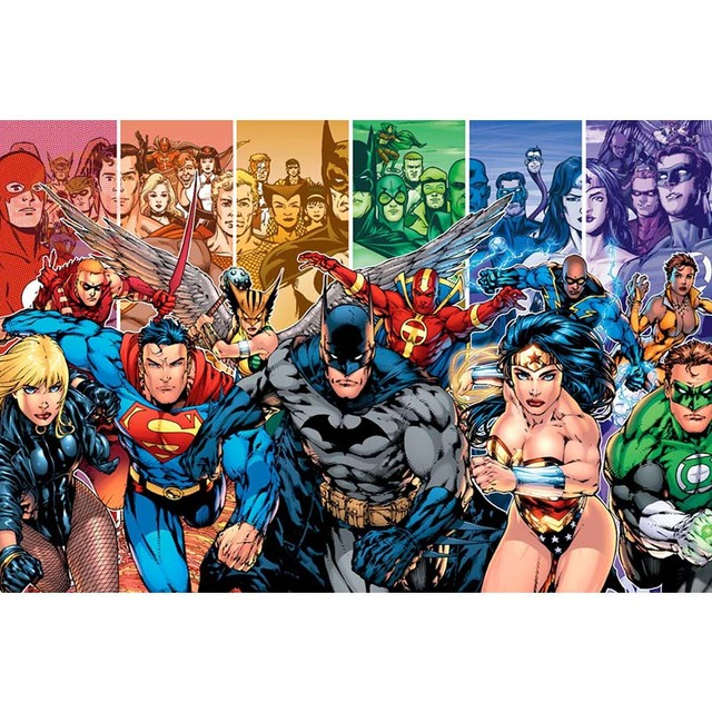 Dc Comics Team Superheroes Collage Poster Custom Canvas