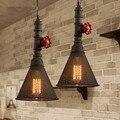 Neue Kreative Retro Style Industrie Loft Kronleuchter Wasser Rohr Kronleuchter Lampe Bar Eisen Restaurant Lichter metall net lampenschirm