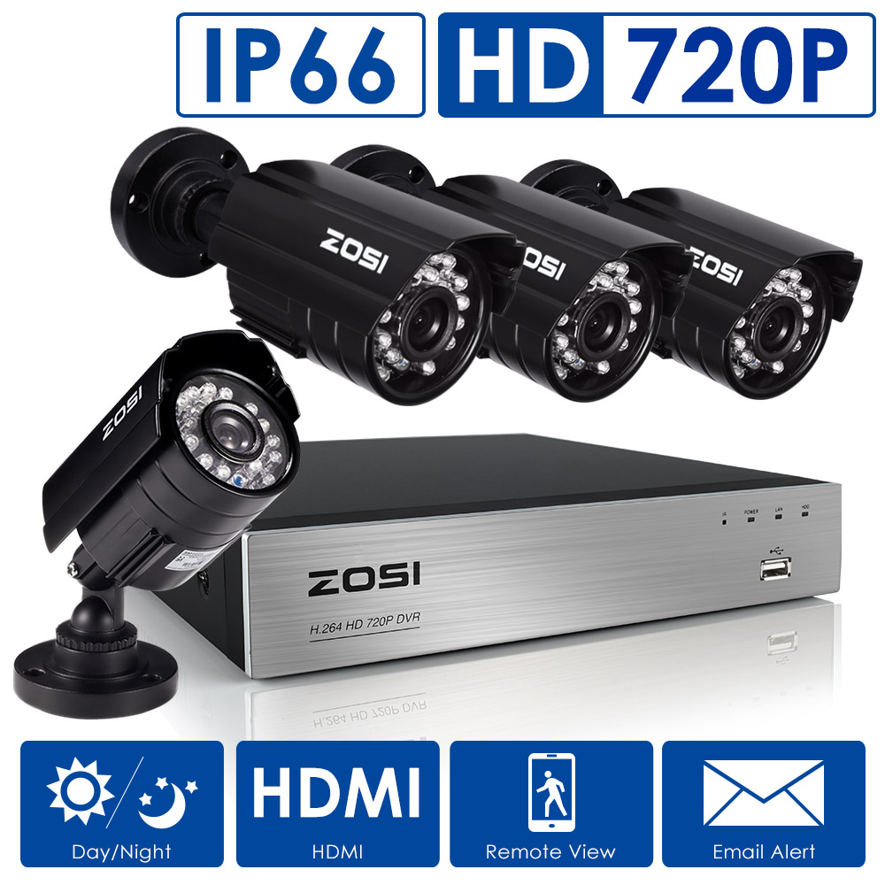 ZOSI HDMI 8CH 720P CCTV IR Outdoor Security Camera DVR Night Vision Home System