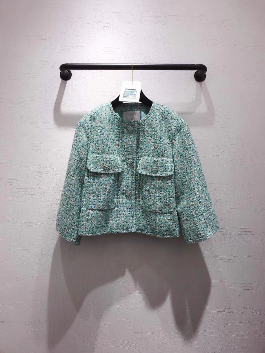Jacket Coat Outwear Spring Female Winter Women Bow Plaid Casual Euro-Style