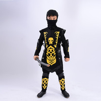 2018 Kids Christmas Gift Ninja Costumes Halloween Party Boys Girls Warrior Cosplay Christmas Day New Year Knight Clothes Costume