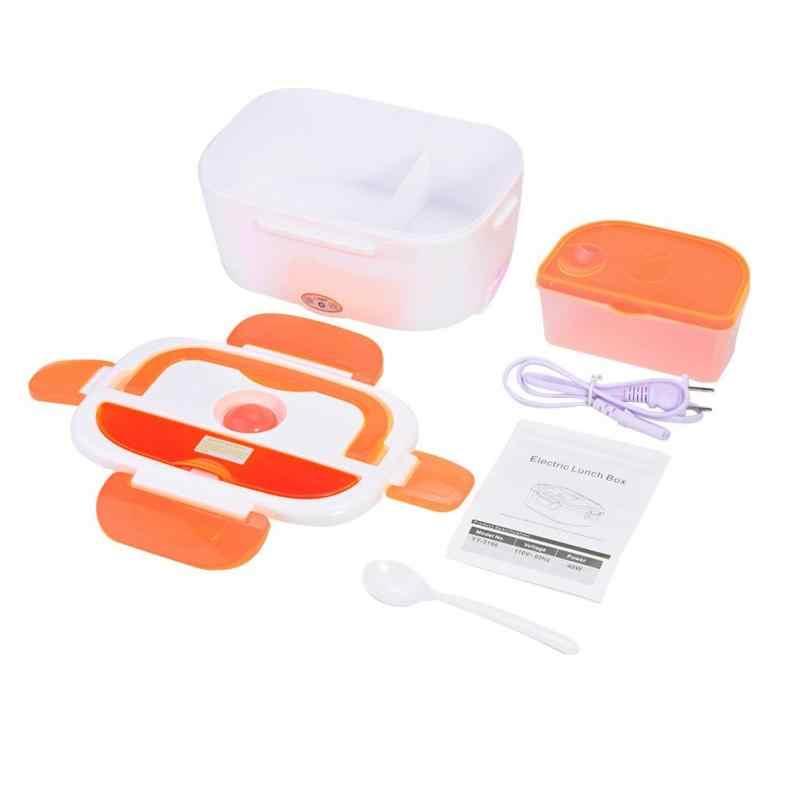 110V Elétrica Lunch Box Isolamento Térmico Thermo Bento Box Carregamento Panela de Arroz Quente Multi Funcional Selo Caixa de Talheres de Plástico