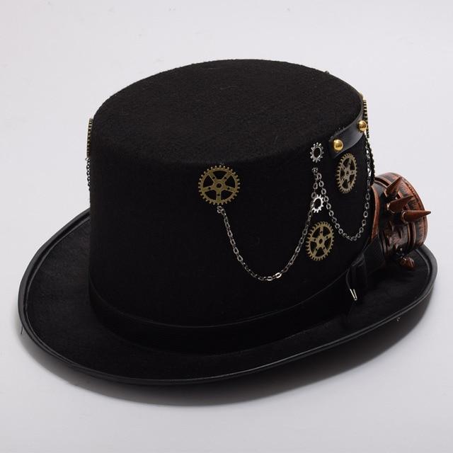 Шляпа в стиле стимпанк с очками вариант 6 3