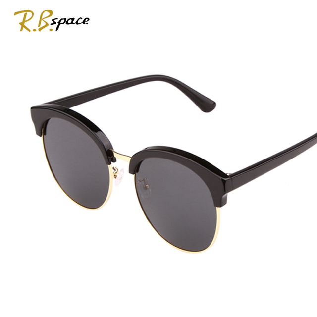 Cheap RBspace Brand hot Summer  style Sunglasses Round sunglasses big Lenses  fashion  UV400  Luxury retro women's sunglasses Unisex