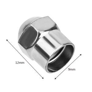 Image 5 - 100 pces tampões de pressão de ar do pneu do carro roda válvula de pneu tampa da haste plástico cromado acessórios do pneu universal hermético capa