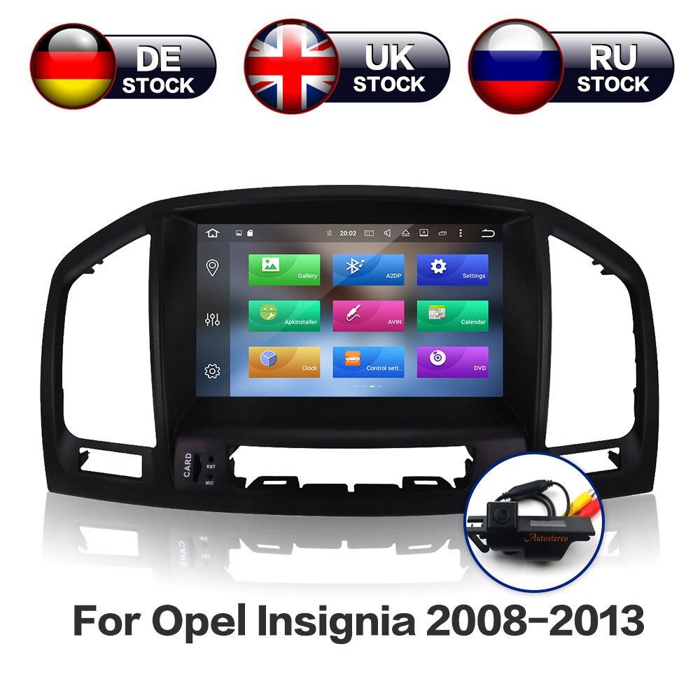 Android 9.0 GB IPS 4 + 32 Tela Car DVD Player GPS de Navegação Para Opel Vauxhall Insignia Holden 2008- 2013 CD300 CD400 Câmera Livre