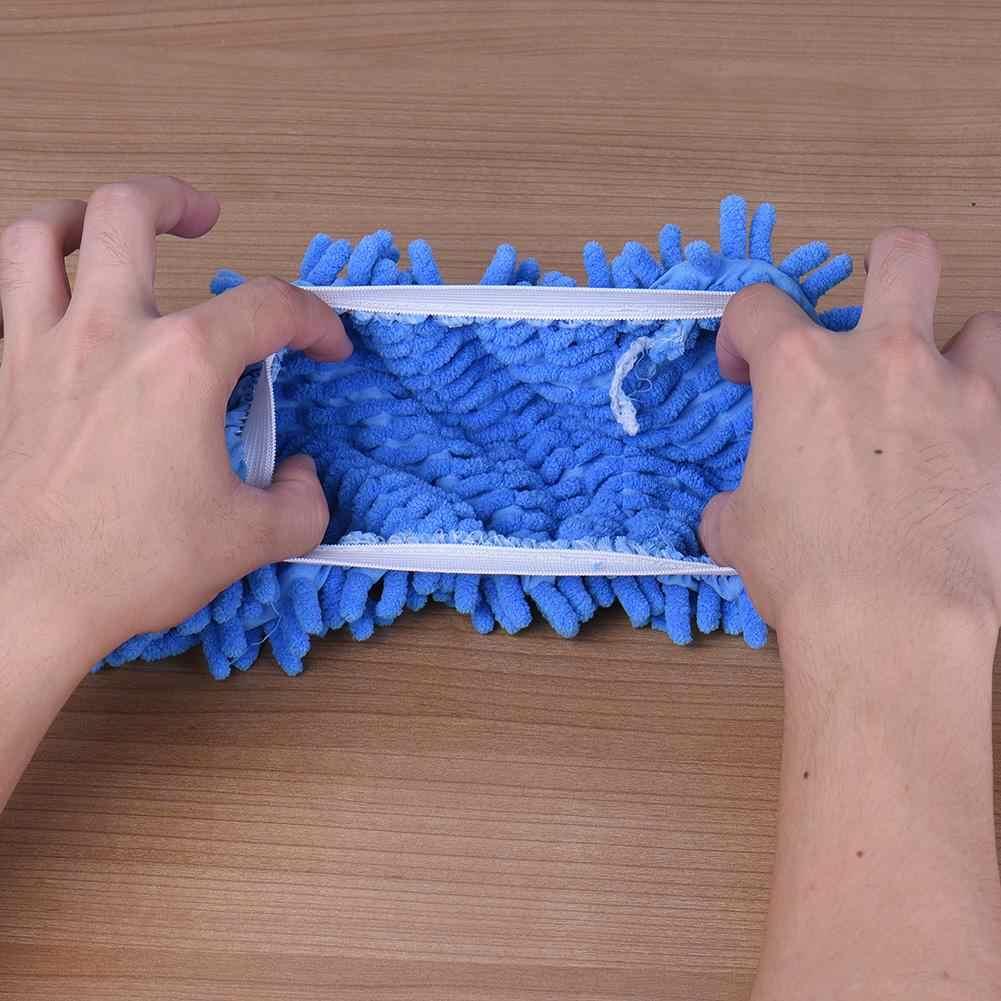 متعددة وظيفة الشنيل الألياف قابل للغسل ممسحة تراب النعال تنظيف الأحذية الطابق الغبار تنظيف تلميع أحذية مفتوحة 1 قطعة فقط