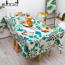 Simanfei Table Cloth 2017 New Thicken Pastoral Style Green Leaves Fresh Dinner Antependium Tea Tablecloth Round Toalha de mesa