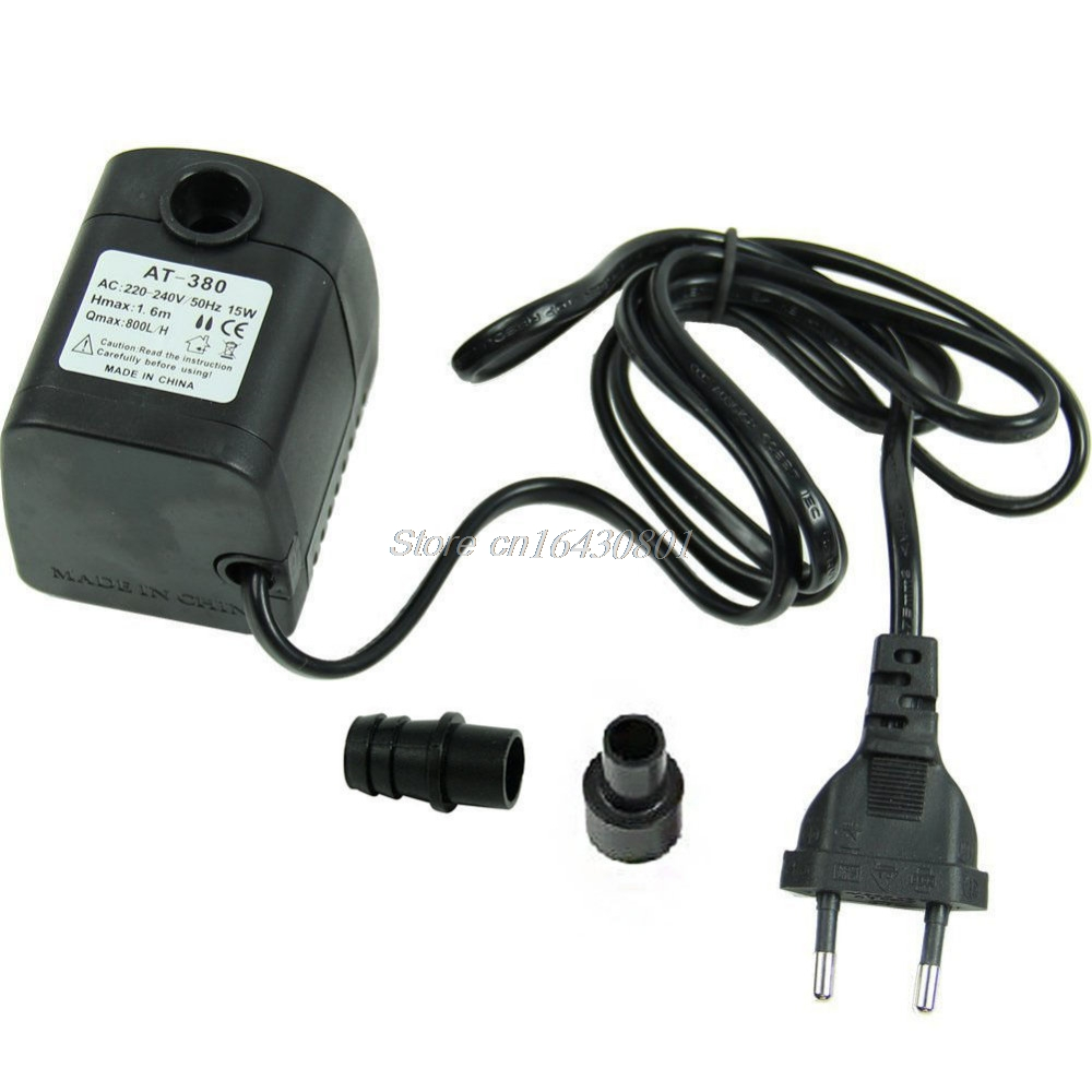 220V 15W 800L/H Submersible Fountain Air Fish Tank Aquarium Water Pump EU Plug G08 Whosale&DropShip