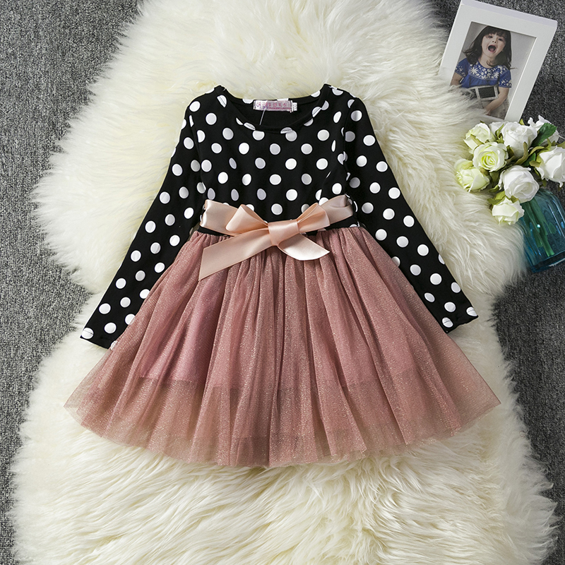 Baby Dress Long Sleeve Princess Girls Clothes Christmas Party Winter Children Dresses