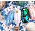 10 pçs/lote Aurora Transparente Etiquetas Da Estrela Céu Colorido Papel High-end Ferramentas Da Arte do Prego Decoração de Unhas para Meninas Adesivo & decalque