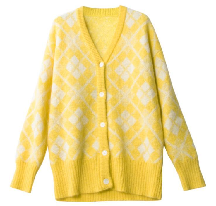 KENVY Брендовые женские Модные высокого класса люкс Новинка зимы свободные шерсть, мохер свитер пальто кардиган