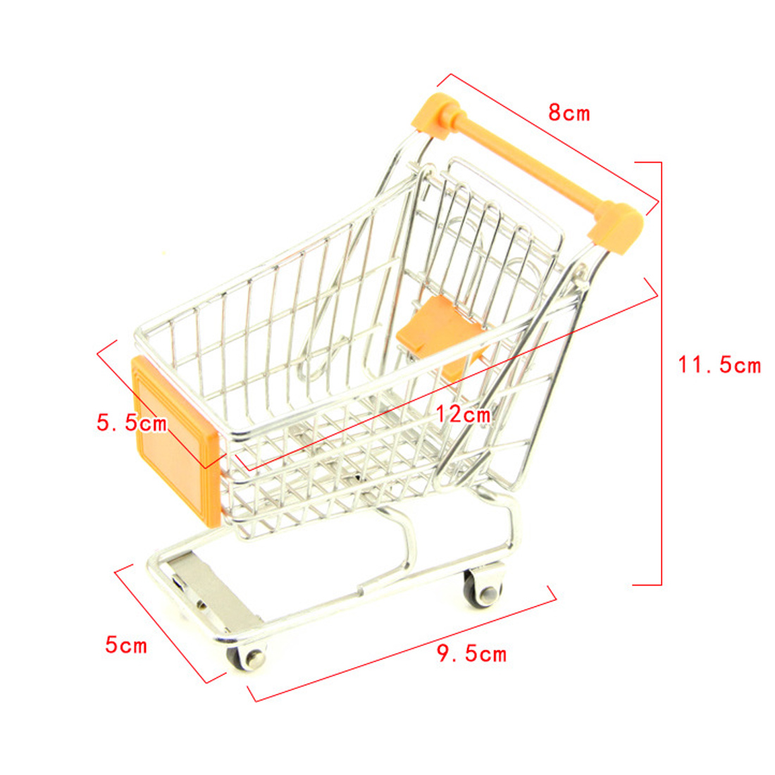 High Quality Cute Mini Supermarket Handcart Trolley Shopping Utility Cart Phone Holder Office Desk Storage Toy Cart Baby Toy