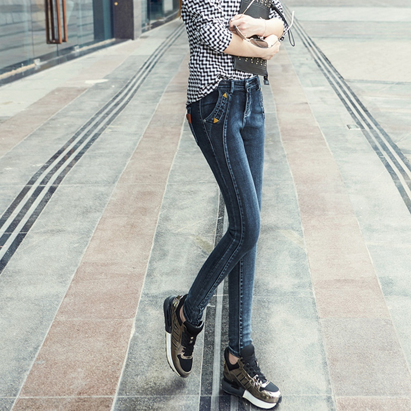 Slim Skinny Jeans Women Boots Trousers Casual Female Stretched Plus Size Denim Pencil Pants Blue MYNN56 in Jeans from Women 39 s Clothing
