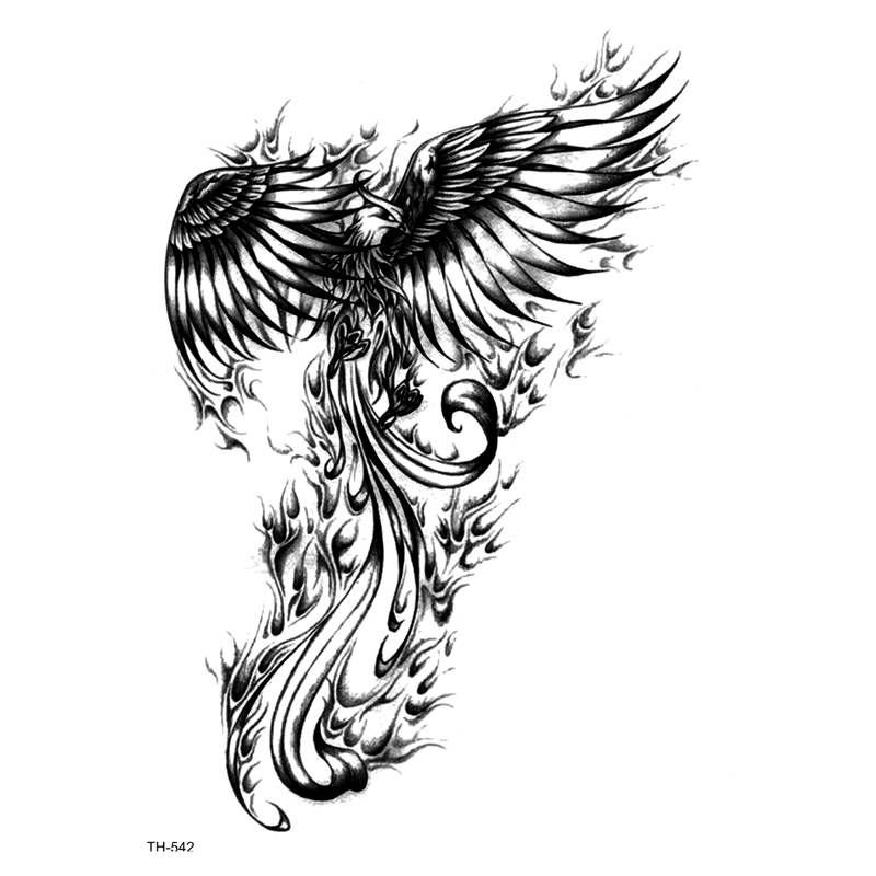 Phoenix Waterproof Temporary Tattoo Sticker On Body  Art Stickers Fake Tattoo Tatouage Henna Temporary Tatoo Sleeve