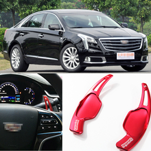 tommia For Cadillac XTS 2013-2018 2pcs Steering Wheel Aluminum Shift Paddle Shifter Extension Car-styling 2pcs steering wheel aluminum shift paddle shifter extension for honda fit 2009 2013