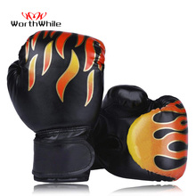 WorthWhile 6OZ Kids PU Kick Boxing Gloves Punching Karate Muay Thai Guantes De Boxeo Free Fight MMA Sanda Training Equipment