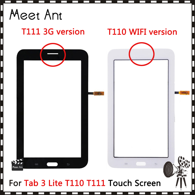 """7,0 """"для Samsung Galaxy Tab 3 Lite 7,0 SM-T110 SM-T111 T110 T111 сенсорный экран дигитайзер Датчик передняя внешняя стеклянная линза Панель"""