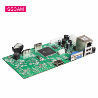 16Channel 5MP NVR Board H.265 Home Security Network Video Recorder Video Surveillance Recorder Board PCB Module Support ONVIF