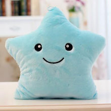 Colorful Glowing Blue Pink Yellow Purple White Star Pillow Creative Romantic Plush Toy Cute Birthday Gift Grab Doll(China)