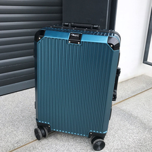 SEABIRD 20 24  Aluminum Frame Travel Trolley Luggage Spinner Carry On Cabin Rolling Hardside Luggage Suitcase xiaomi 90fun business travel dual function rolling luggage with lock spinner pc suitcase trolley carry on travel bag 20 24 28