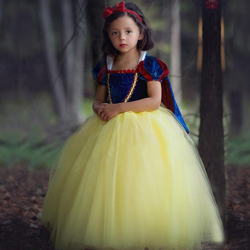 Snow White Princess Dress Up For Girls Party Gown Children Sofia Costume Fancy Halloween Christmas Cosplay Dresses With Cloak