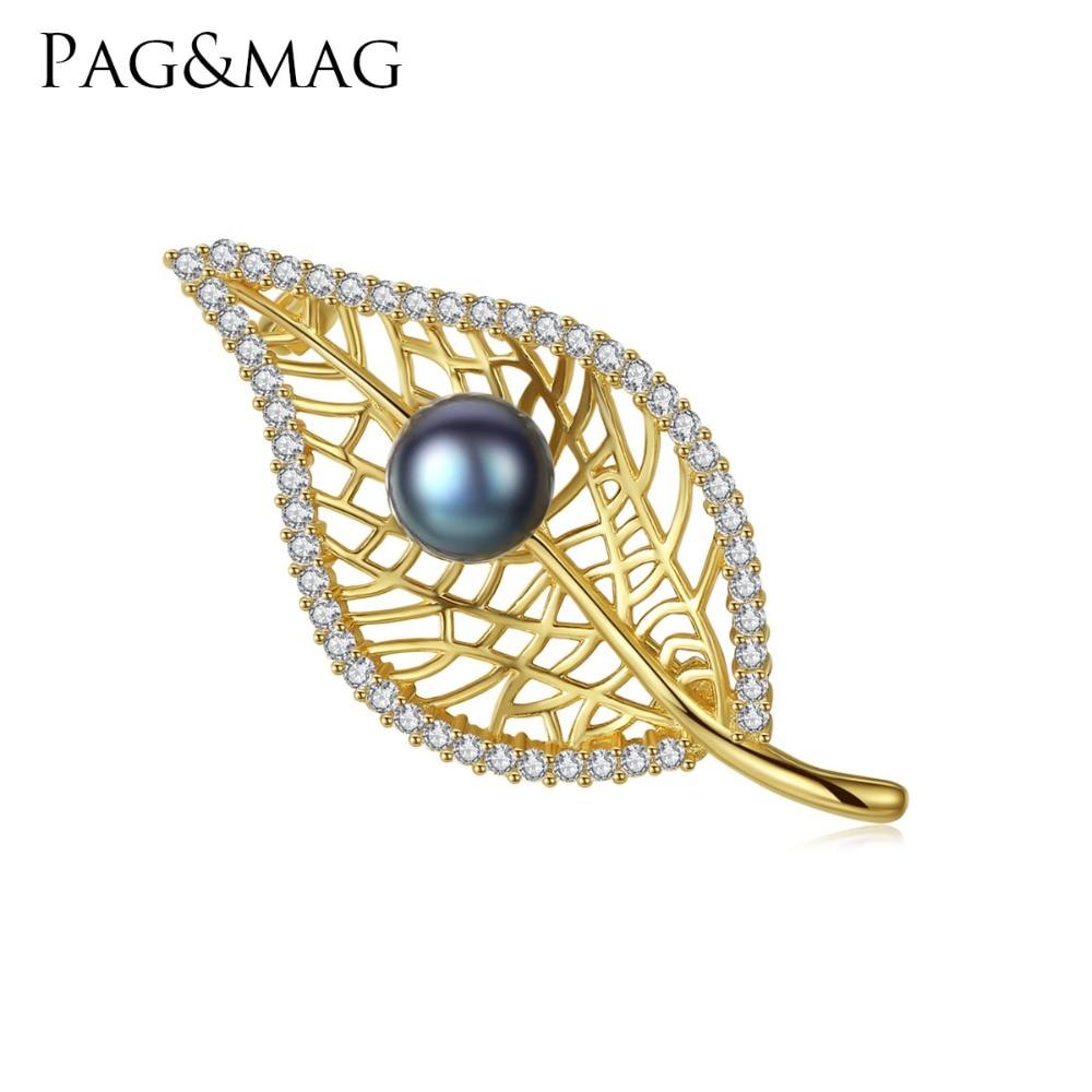 PAG & MAG Marka Kształt Liścia Słodkowodne Pearl 8-8.5mm Naturalny - Wykwintna biżuteria - Zdjęcie 1